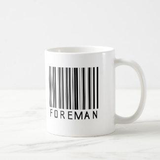 Foreman Bar Code Coffee Mug
