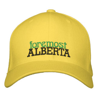 FOREMOST, ALBERTA, CANADA HAT EMBROIDERED HAT