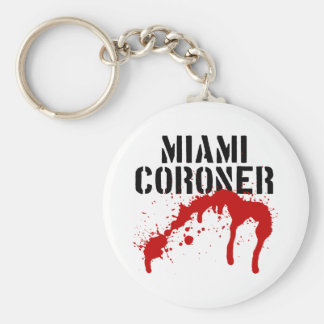 Forense del paladio del metro de Miami Llavero Redondo Tipo Pin