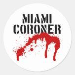 Forense del paladio del metro de Miami Etiquetas Redondas