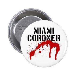 Forense del paladio del metro de Miami Pin Redondo 5 Cm