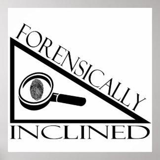 Forense inclinado impresiones