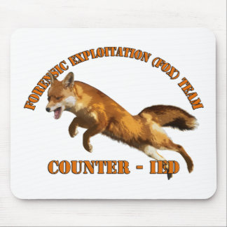 Forensic Exploitation Team (FOX) CIED Counter IED Mouse Pad