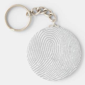 Forensic Fingerprint Pattern Basic Round Button Keychain