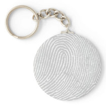Forensic Fingerprint Pattern Keychain