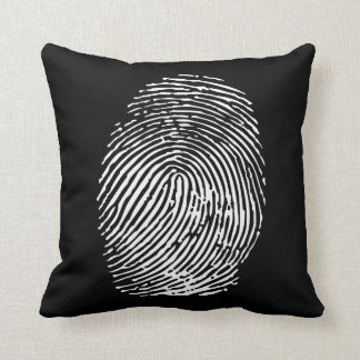 Forensic Fingerprint Throw Pillow