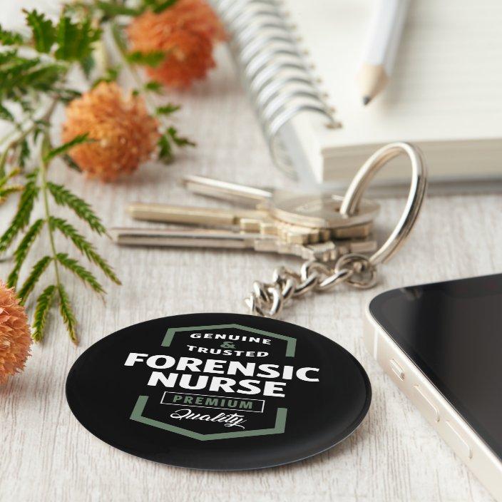 Forensic Nurse Logo Gift Ideas Keychain Zazzle Com