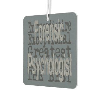 Forensic Psychologist Extraordinaire Car Air Freshener