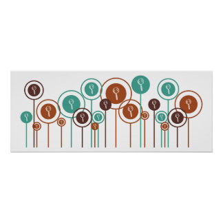 Forensic Science Daisies Poster