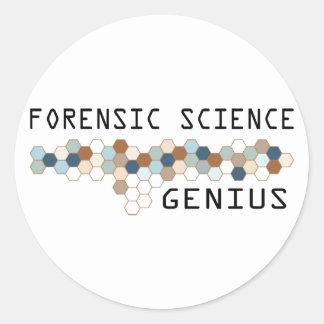 Forensic Science Genius Classic Round Sticker