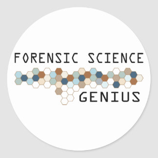 Forensic Science Genius Stickers