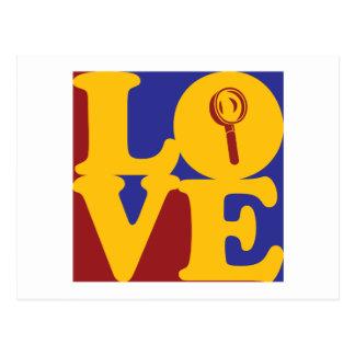 Forensic Science Love Postcard