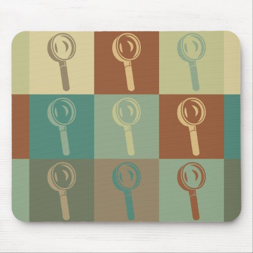 Forensic Science Pop Art Mouse Pad