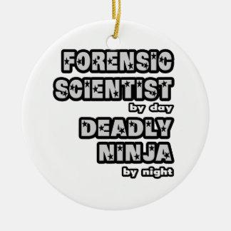 Forensic Scientist .. Deadly Ninja Christmas Ornament