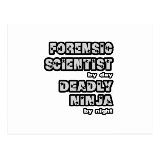 Forensic Scientist .. Deadly Ninja Postcard