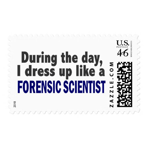 Forensic Scientist During The Day Stamps