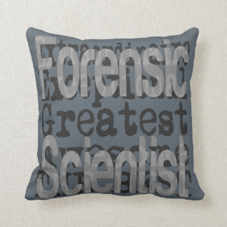 Forensic Scientist Extraordinaire Throw Pillow