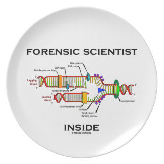 Forensic Scientist Inside (DNA Replication) Melamine Plate