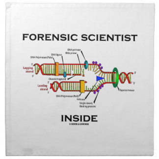 Forensic Scientist Inside (DNA Replication) Napkin