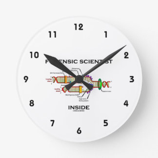 Forensic Scientist Inside (DNA Replication) Round Clock