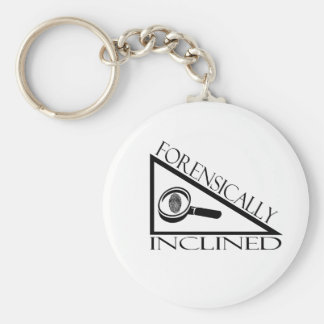 Forensically Inclined Basic Round Button Keychain