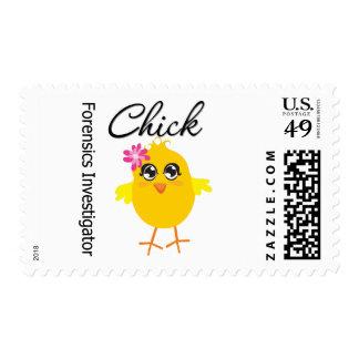 Forensics Investigator Chick Postage