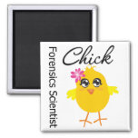 Forensics Scientist Chick 2 Inch Square Magnet