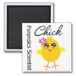 Forensics Scientist Chick Refrigerator Magnet