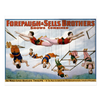 Forepaugh & Sells Brothers Shows Combined. Postcard