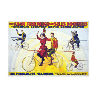 Forepaugh & Sells Brothers Vintage Circus Poster Canvas Print