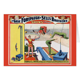 Forepaugh & Sells Brothers Vintage Circus Poster Card
