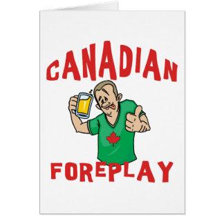 Foreplay canadiense felicitación