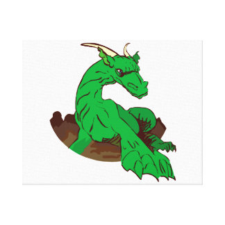 Foreshortened green dragon.png gallery wrapped canvas