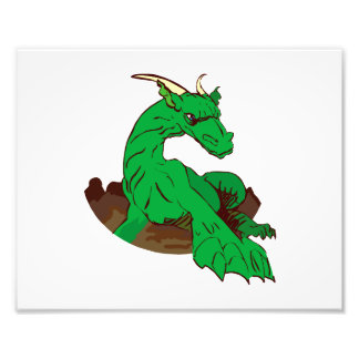 Foreshortened green dragon.png photographic print
