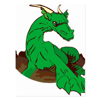 Foreshortened green dragon.png post card