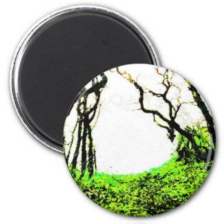 Forest 2 Inch Round Magnet
