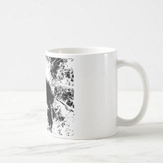 Forest above coffee mug