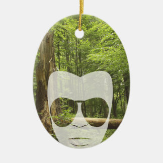 Forest Afro Christmas Ornament