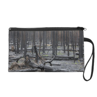 Forest after fire in Yellowstone National Park Wristlet Purse