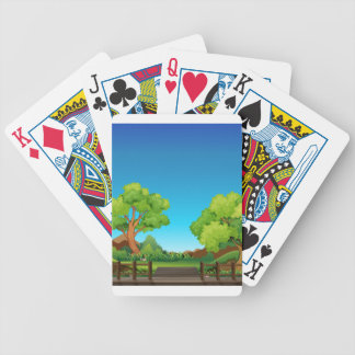 Forest and bridge bicycle playing cards
