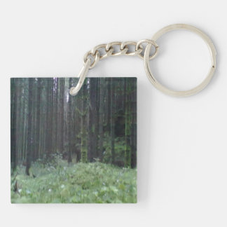 Forest and grass Double-Sided square acrylic keychain