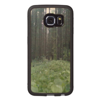 Forest and grass wood phone case