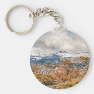Forest and Snowy Mountains, Patagonia, Argentina Keychain