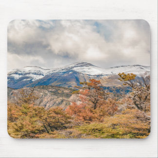 Forest and Snowy Mountains, Patagonia, Argentina Mouse Pad