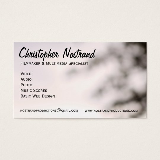 Forest and Trees Business Card