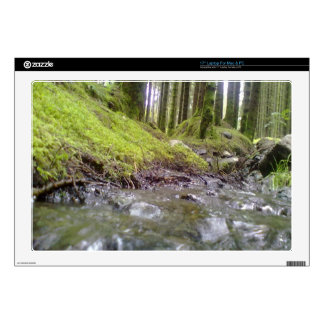 Forest and water laptop decals