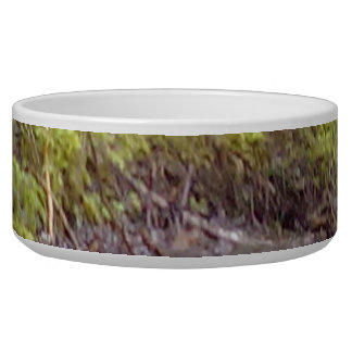 Forest and water pet water bowls