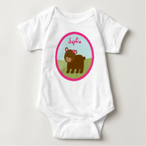 Forest Animal Bear Girls Baby T-Shirt