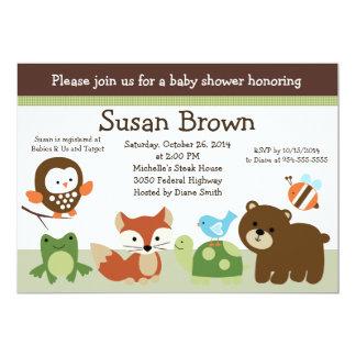 Forest Animal Friends Baby Shower Invitation