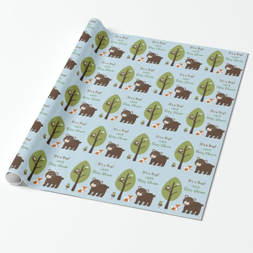 Forest Animal Personalized Wrapping Paper